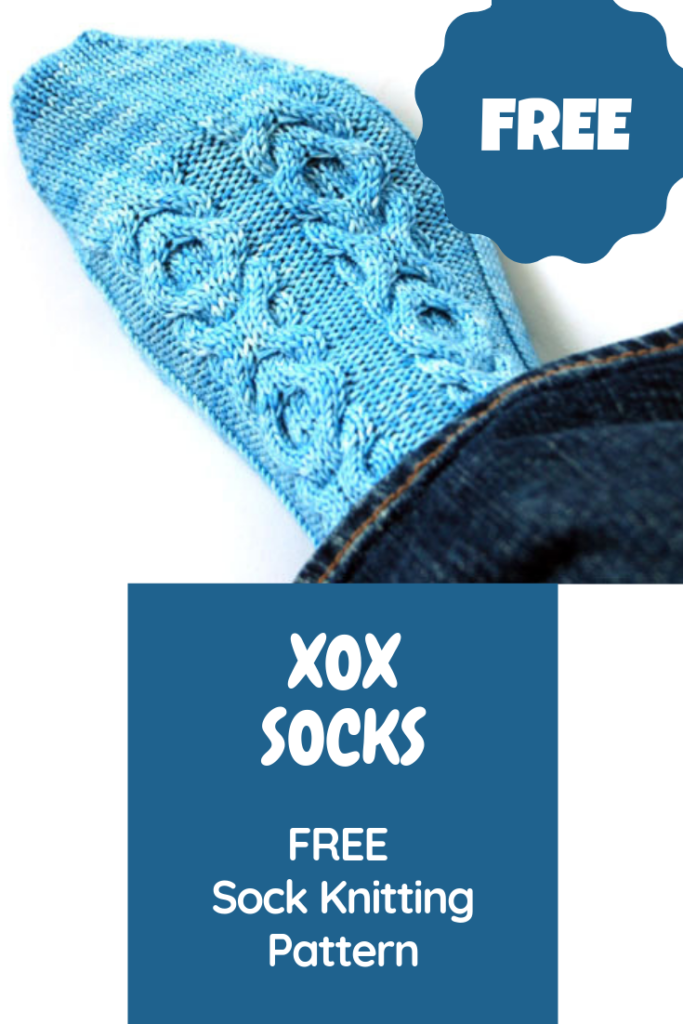 Free Sock Knitting Pattern XOX Hugs and Kisses Wollhuhn